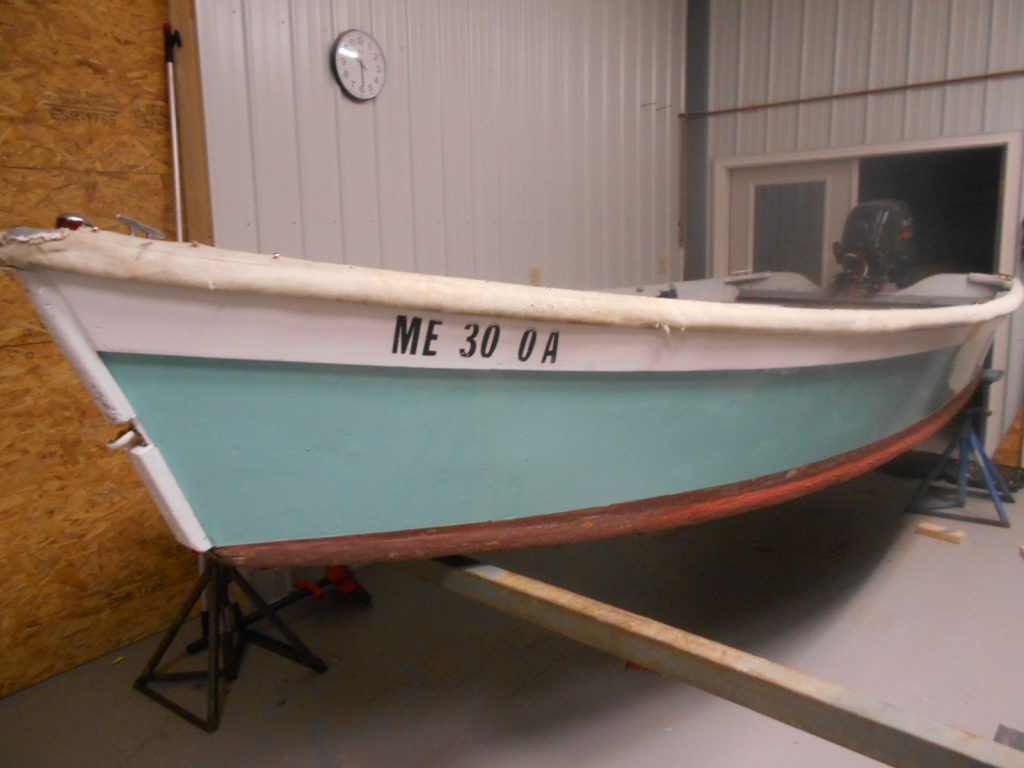New paint job on a service skiff at Belmont Boatworks