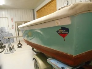 Our service skiff at Belmont Boatworks