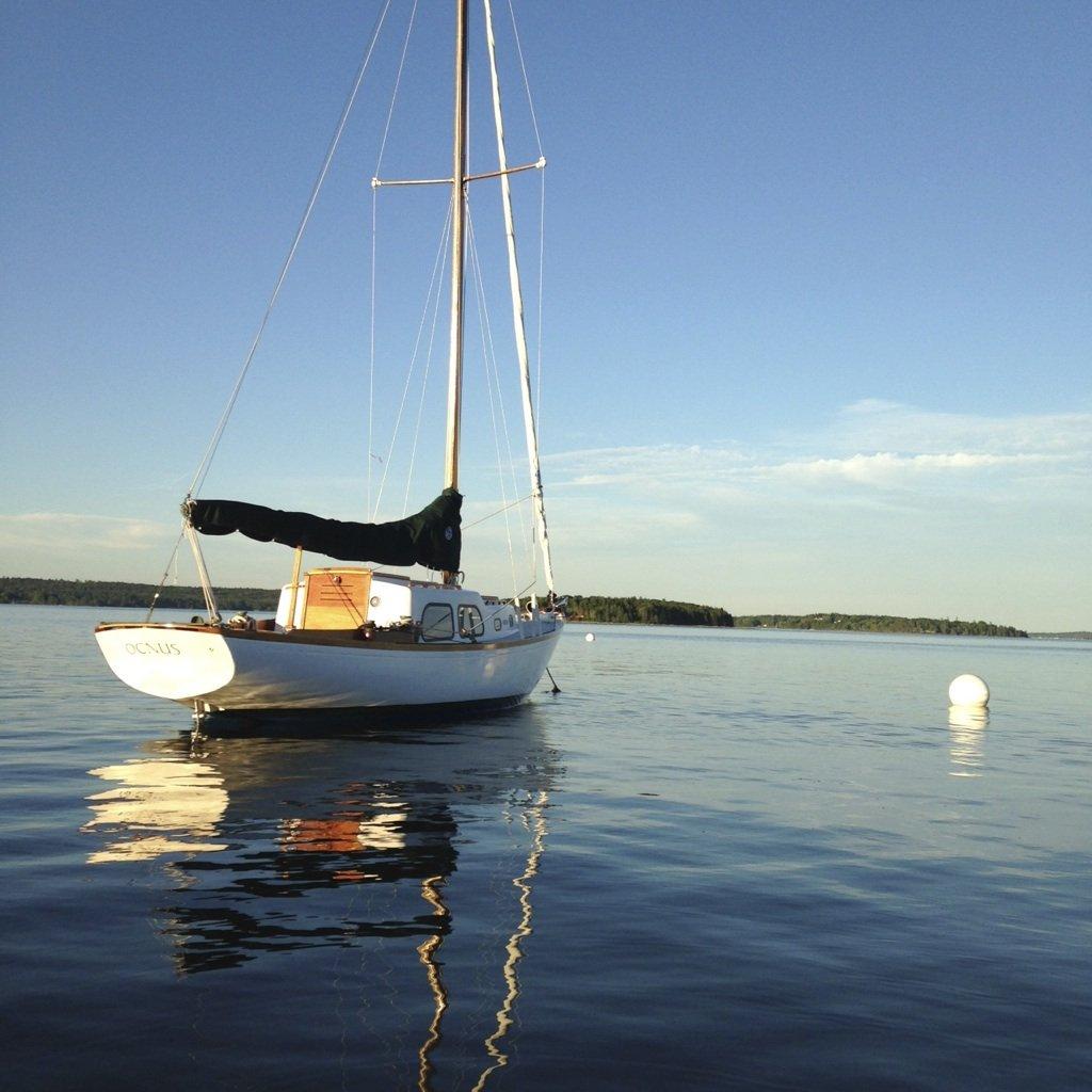 Ocnus at mooring- Rhodes Ranger hull #85
